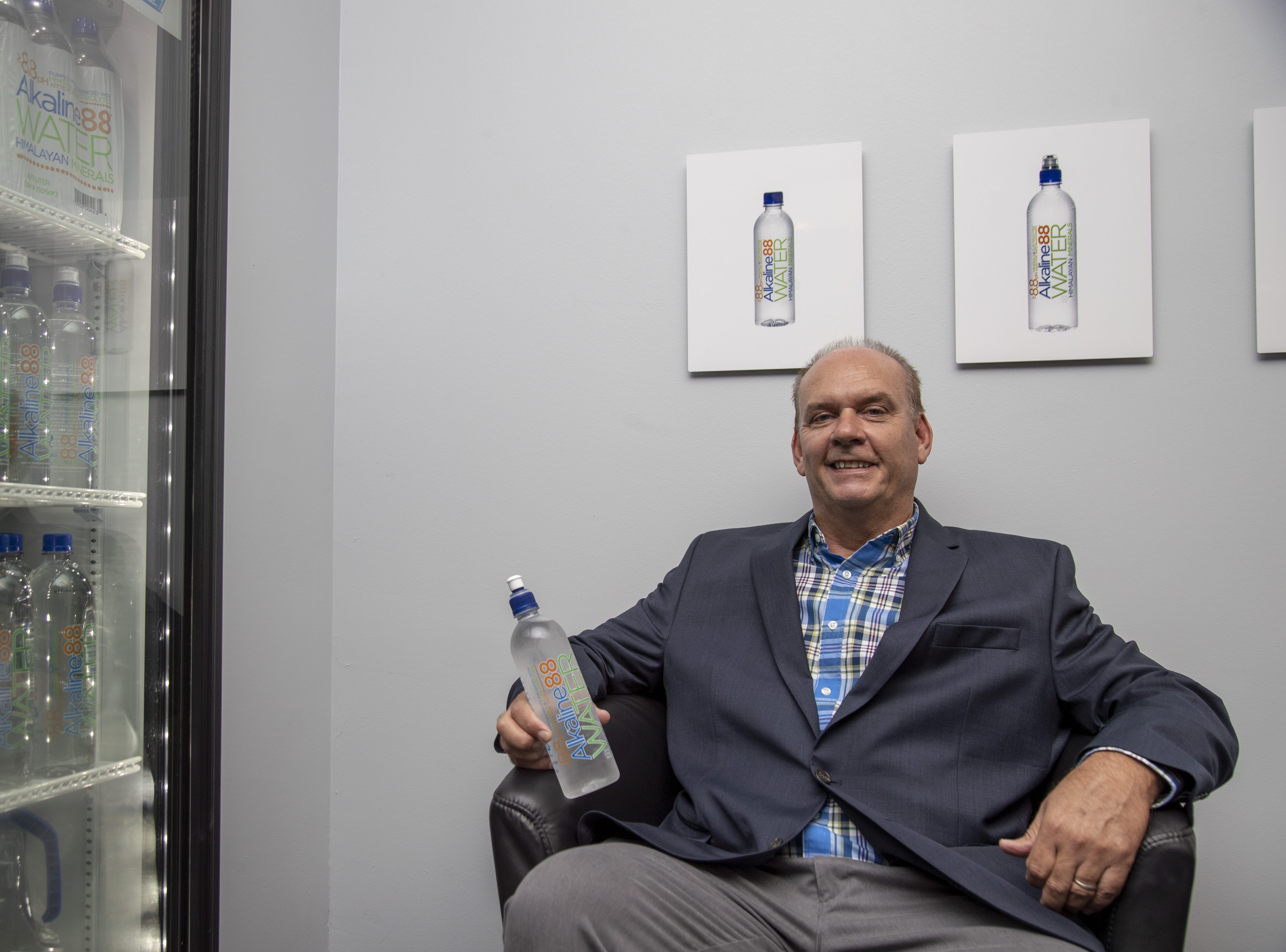 CEO Ricky Wright launched The Alkaline Water Co. in 2012.