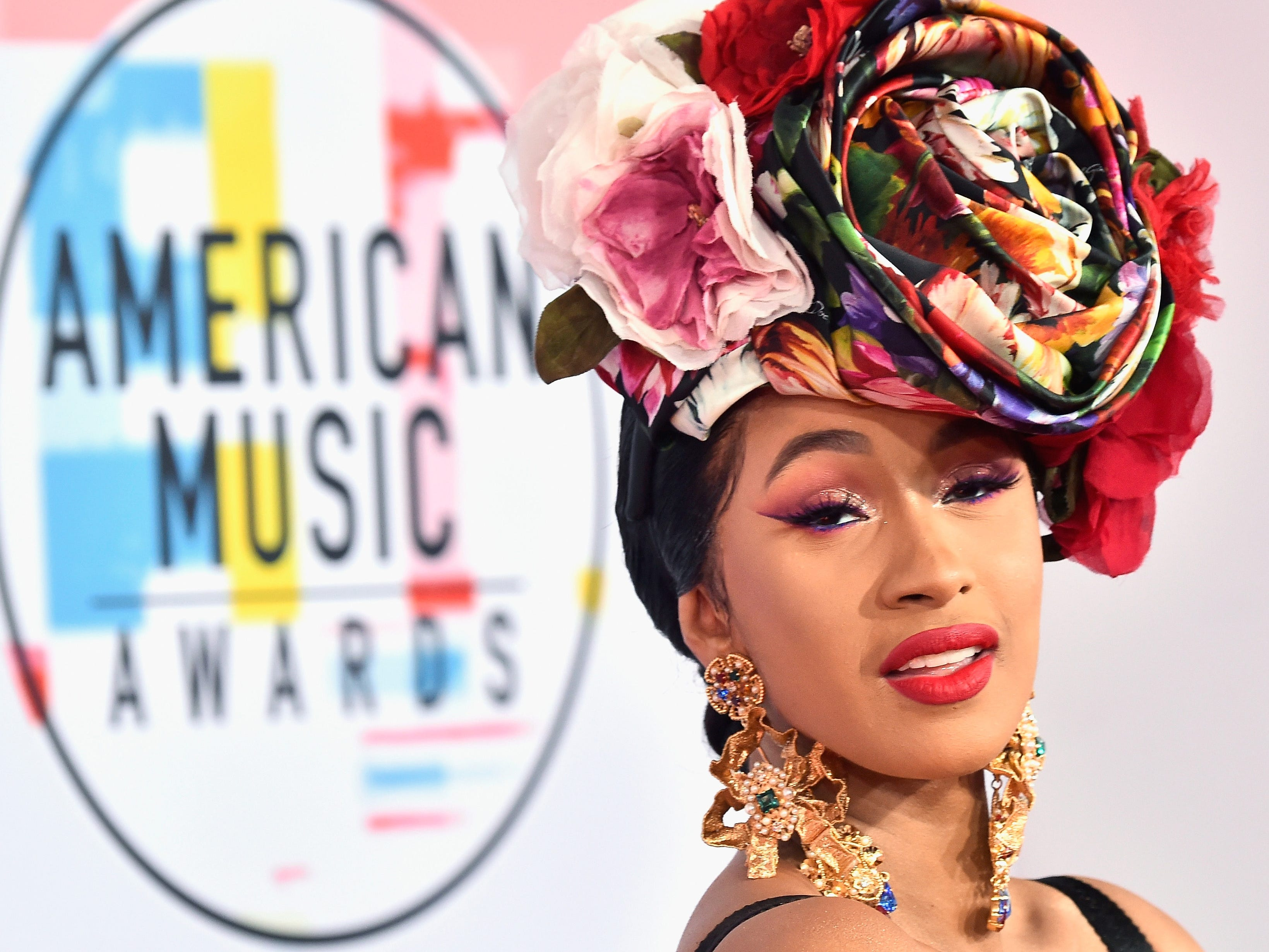 Cardi B attends the 2018 American Music Awards at Microsoft Theater on Oct. 9, 2018, in Los Angeles.