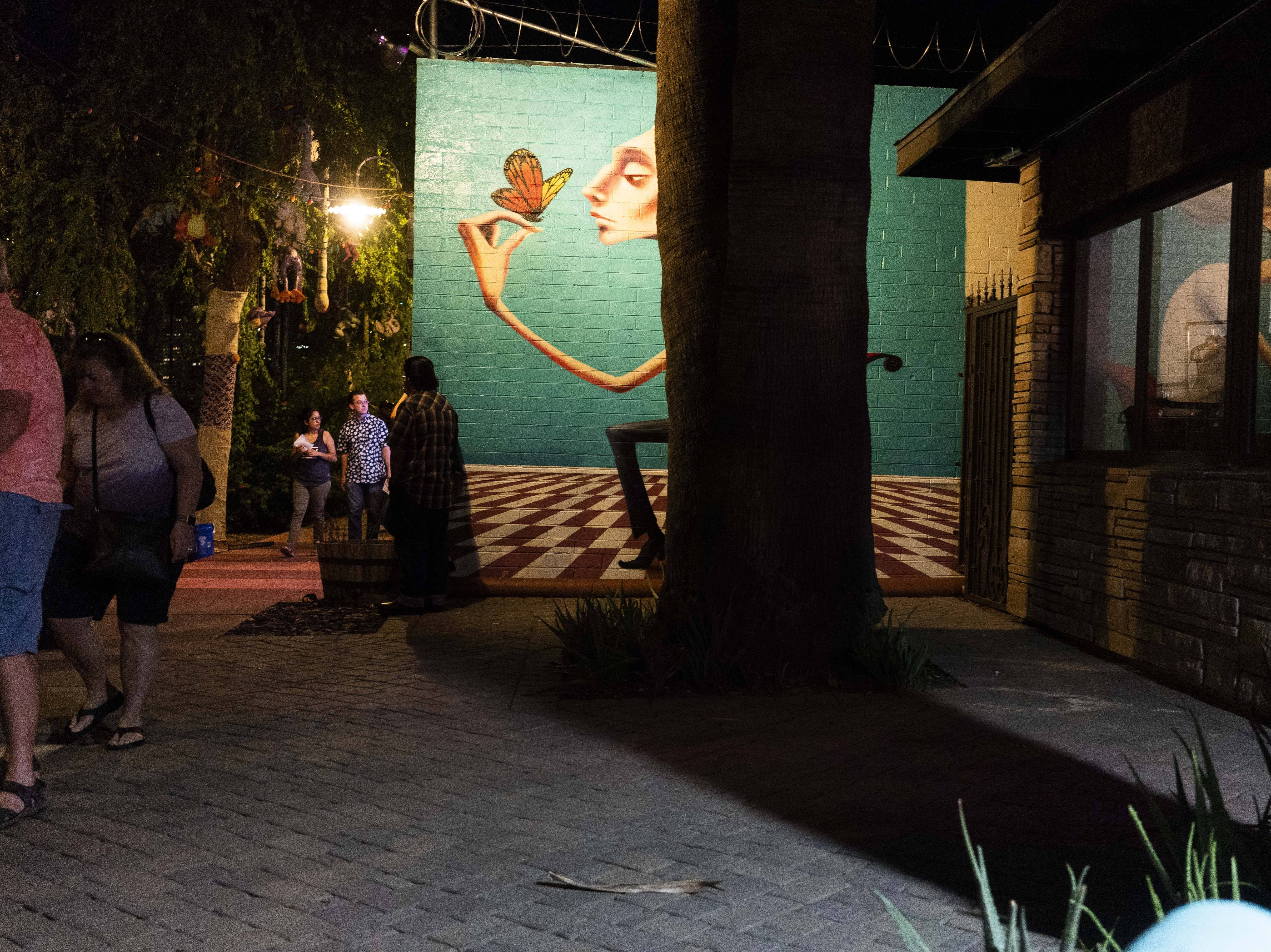 First Friday Art walk on Grand Ave in Downtown Phoenix, on Oct. 5, 2018.