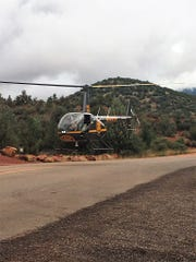 Two woman from North Carolina were rescued by a helicopter rescue team after becoming lost near Devil's Bridge on Oct. 3.