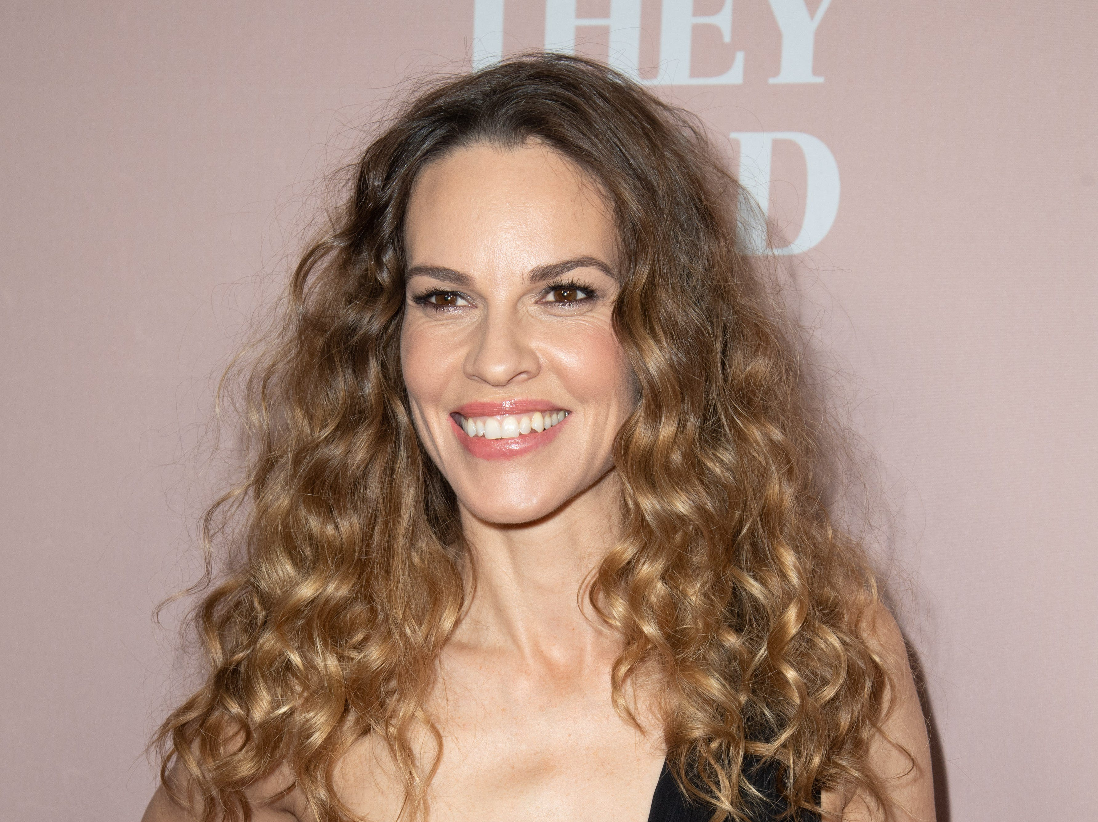 "Hilary Swank attends a screening of ""What They Had"" on Oct. 9, 2018, in Westwood, California."