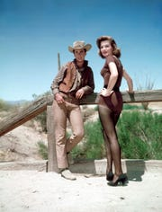 "Ricky Nelson and Angie Dickinson star in ""Rio Bravo."""