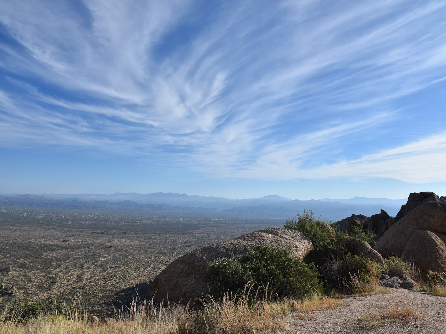 Many mountain hike destinations can be seen from the Tom's Thumb trail.