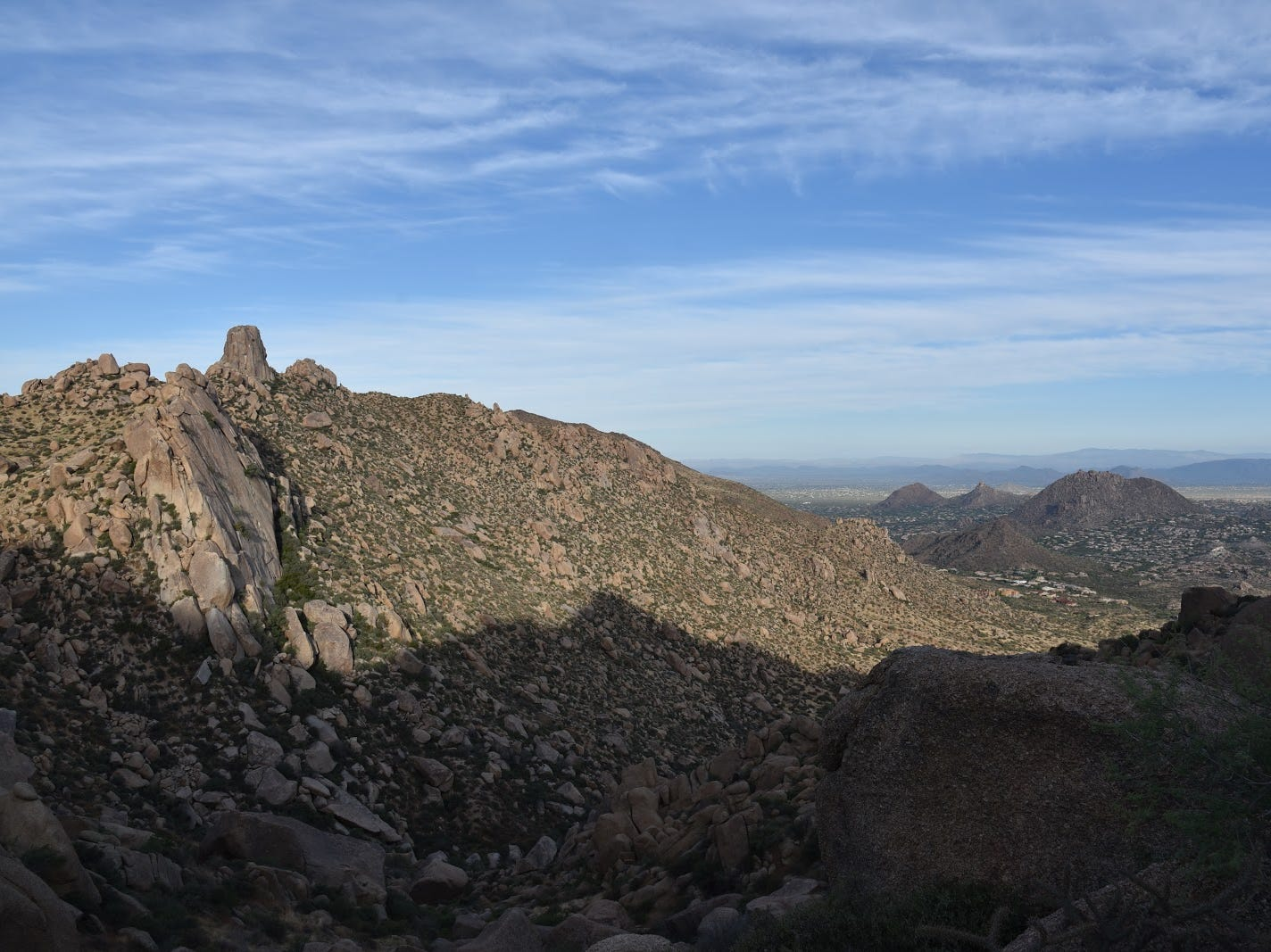 Looking northwest from the Tom's Thumb trail.