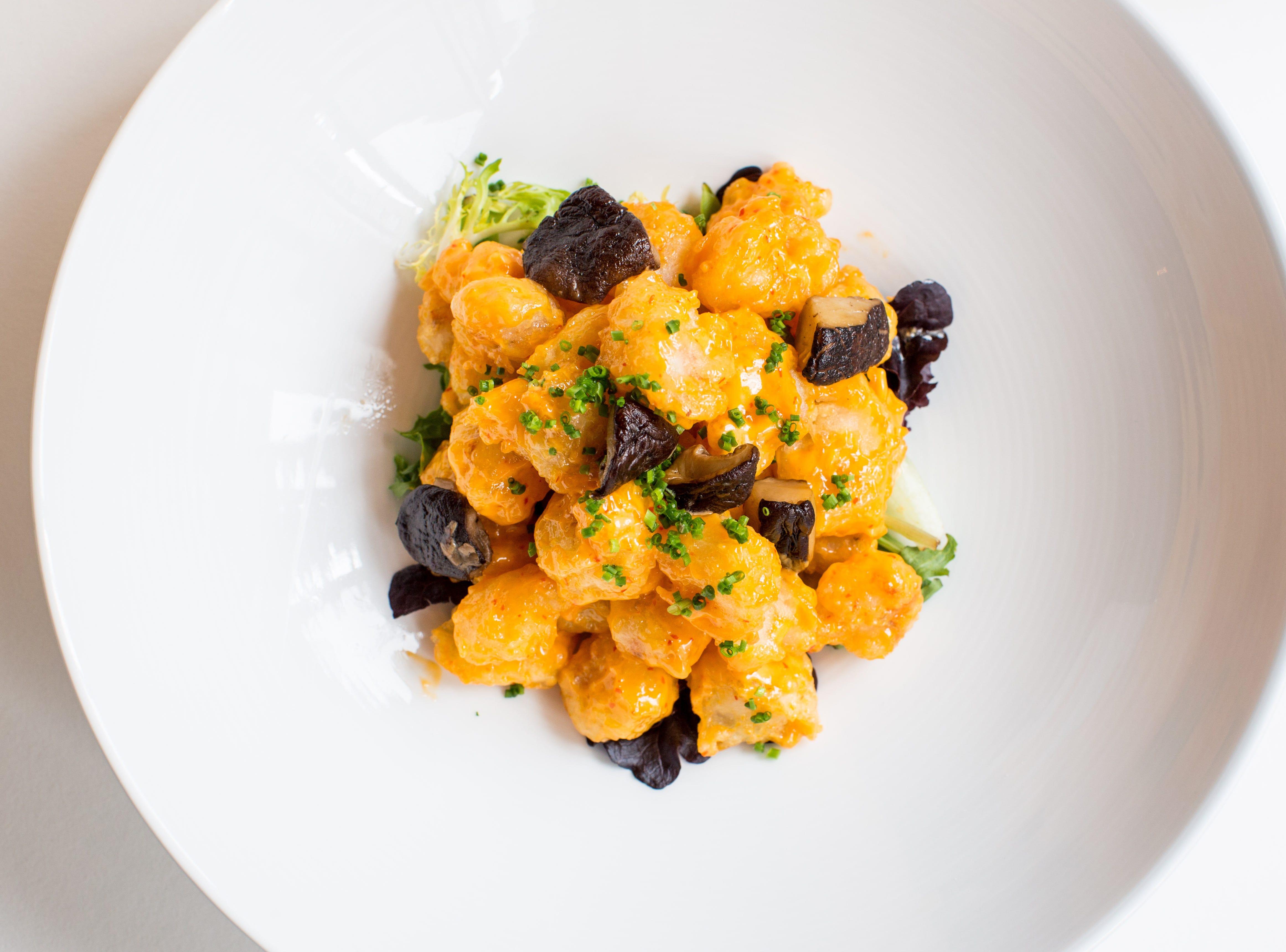 Chef Nobu Matushisha's creamy rock shrimp tempura dish.
