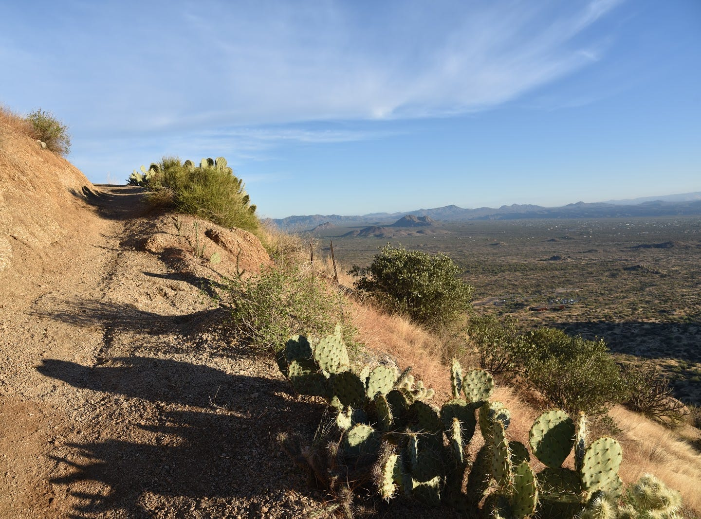 The Tom's Thumb trail ascends more than 1,300 feet on a gravelly surface.