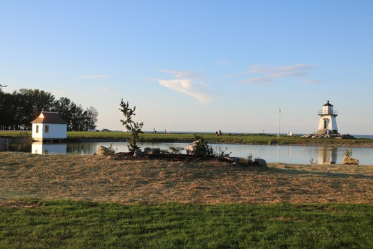 The new landscaping around the Port Clinton Lighthouse is giving Waterworks Park a face-lift.