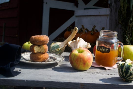 Apple Hill Farm in New Paltz offers freshly made apple cider doughnuts and cider.