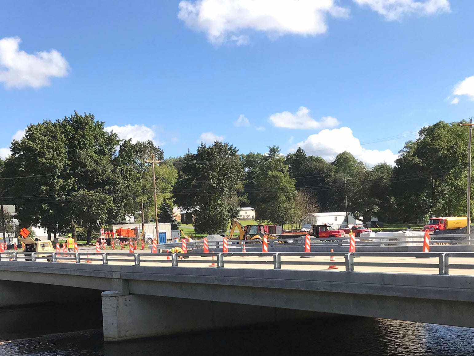 Bridge work continues on US 11 (Philadelphia Avenue) on Wednesday, October 10, 2018 as traffic is moved to the other side.