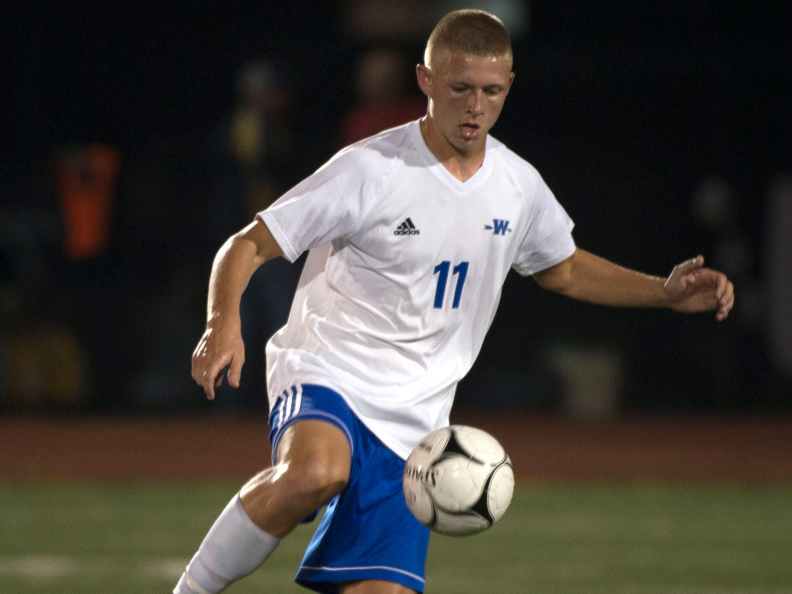 Waynesboro's Derek Buhrman nailed a couple of goals on the night. Waynesboro shocked Greencastle with a 4-0 shutout in PIAA Mid-Colonial soccer on Tuesday, Oct. 9, 2018.