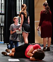 Dallastown students rehearse A Midsummer Night's Dream at Dallastown Area High School in York Township, Wednesday, Oct. 10, 2018. Dawn J. Sagert photo