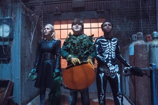 "Caleel Harris, Jeremy Ray Taylor and Madison Iseman star in ""Goosebumps 2: Haunted Halloween."" The movie opens Oct. 11 at Regal West Manchester Stadium 13, Frank Theatres Queensgate Stadium 13 and R/C Hanover Movies."