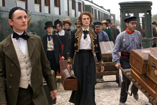 """Keira Knightley, center, stars in  """"Colette."""" The movie opens Oct. 12 at R/C Hanover Movies."""
