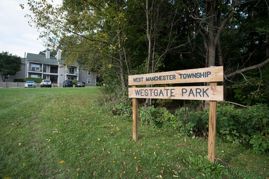 The current Westgate Park borders the planned senior walking trail in West Manchester Township.