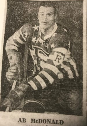 Ab McDonald was an original Rochester American, playing on franchises first two teams in 1956-57 and 1957-58. He scored 51 goals and 115 points in two seasons before a great NHL career.