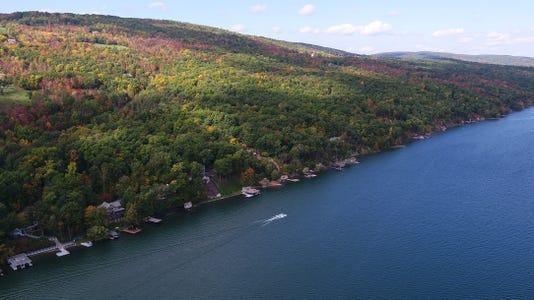 Drone Canandaigua Lake Fall B