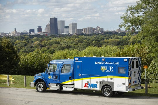 The mobile stroke unit and owned by the University of Rochester Medical Center and operated with AMR. The ambulance will take patients to Rochester General or Strong Memorial hospitals. During a pilot phase, the unit will be dispatched in the city. It eventually will cover Monroe County.