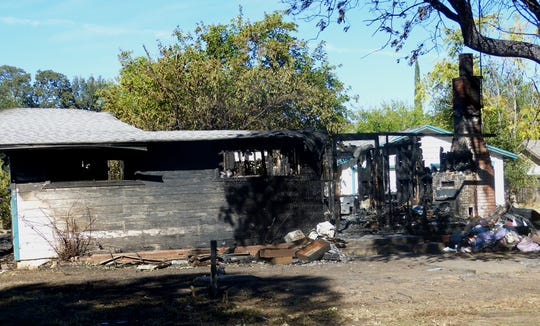A Cottonwood woman died Sunday when this Willow Street home was destroyed in a fire. Her death has been ruled a homicide.