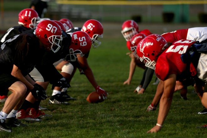 Central football practices for their game against  North Salem on Tuesday, Oct. 9, 2018 at Central High School in Independence.