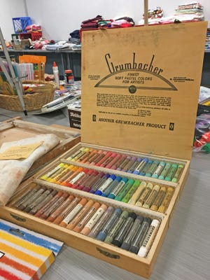 Art and craft supply swap meet at the Stayton Public Library on November 3.