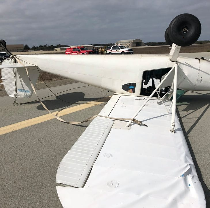 Pilot survives plane crash in Marina with minor injuries