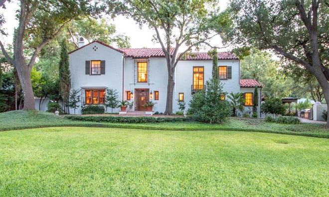 This million dollar home is for sale in the Santa Rita area at 1107 Montecito Drive. It was built in 1926 by  architect Anton Korn.