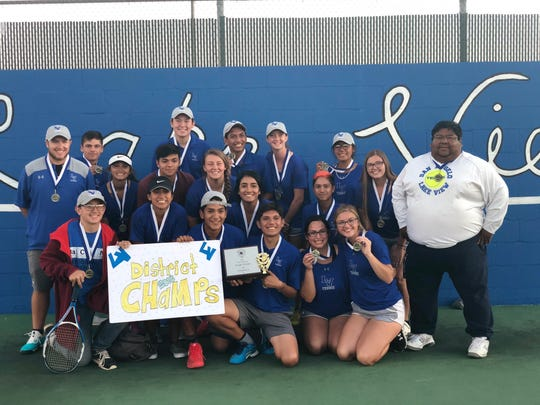 Lake View High School wins District 5-4A Championship in team tennis, Tuesday, Oct. 9, 2018, at the Brandon Clark Tennis Complex at Lake View High School.