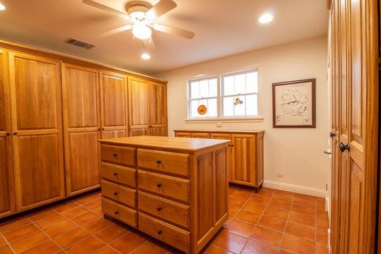 This room at 1107 Montecito Drive is a secure gun room.
