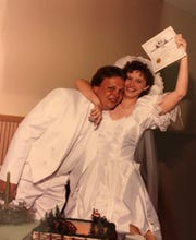 Les Mason and his wife, Carla, shortly after being married.