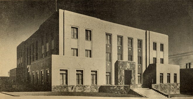 The city hall building in Sioux Falls opened in 1936 with a more modern architecture than buildings previously built downtown.
