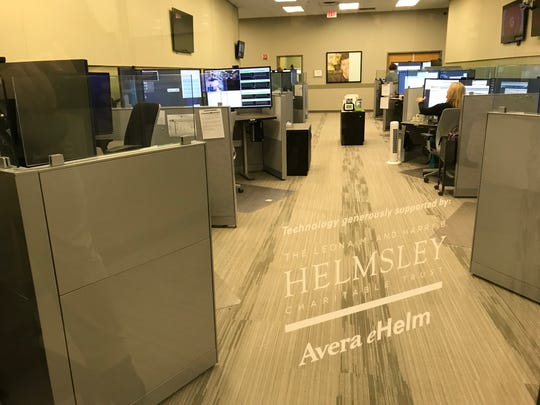 Inside the Avera eCare telemedicine hub in Sioux Falls on Wednesday, Oct. 10.