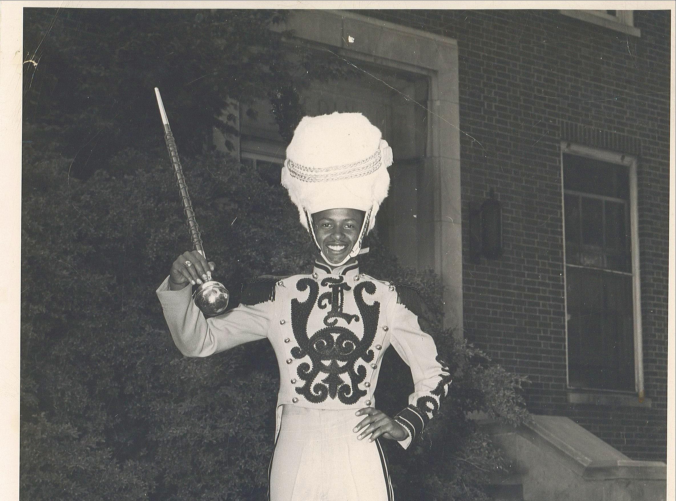 Homer Boyd in his band uniform.