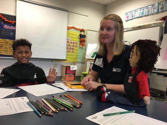 "Kids learn about healthy eating at ""Get Fresh"" pilot diabetes prevention program at William Perry Elementary School on Tuesday, Oct. 9, 2018."