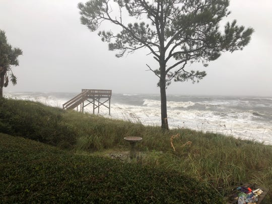 Alligator Point begins to see the intensity Hurricane Michael holds on Wednesday, Oct. 10, 2018.
