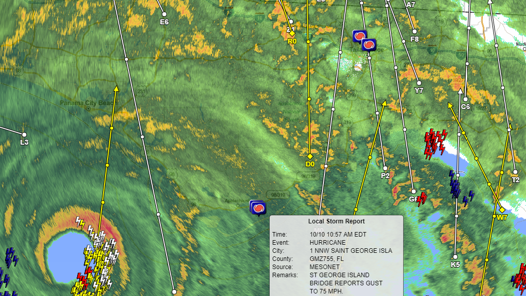 Hurricane Michael radar at 11:20 a.m.