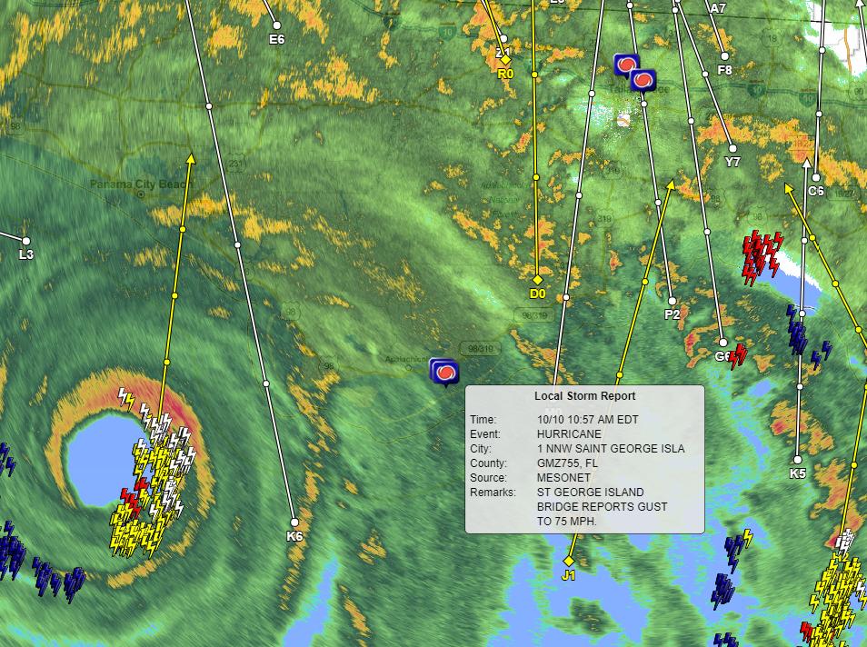 Hurricane Michael radar at 11:20 a.m.