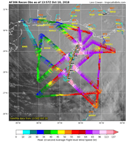 "This is a plot of ""center fixes"" from one of the three recon airplanes currently flying Michael."