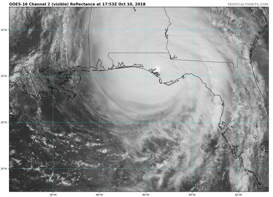 Hurricane Michael just after landfall