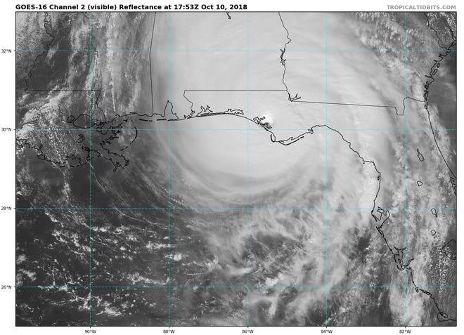Hurricane Michael just after landfall