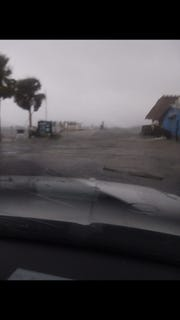 Rock Landing in Panacea, hours before the arrival of Hurricane Michael.