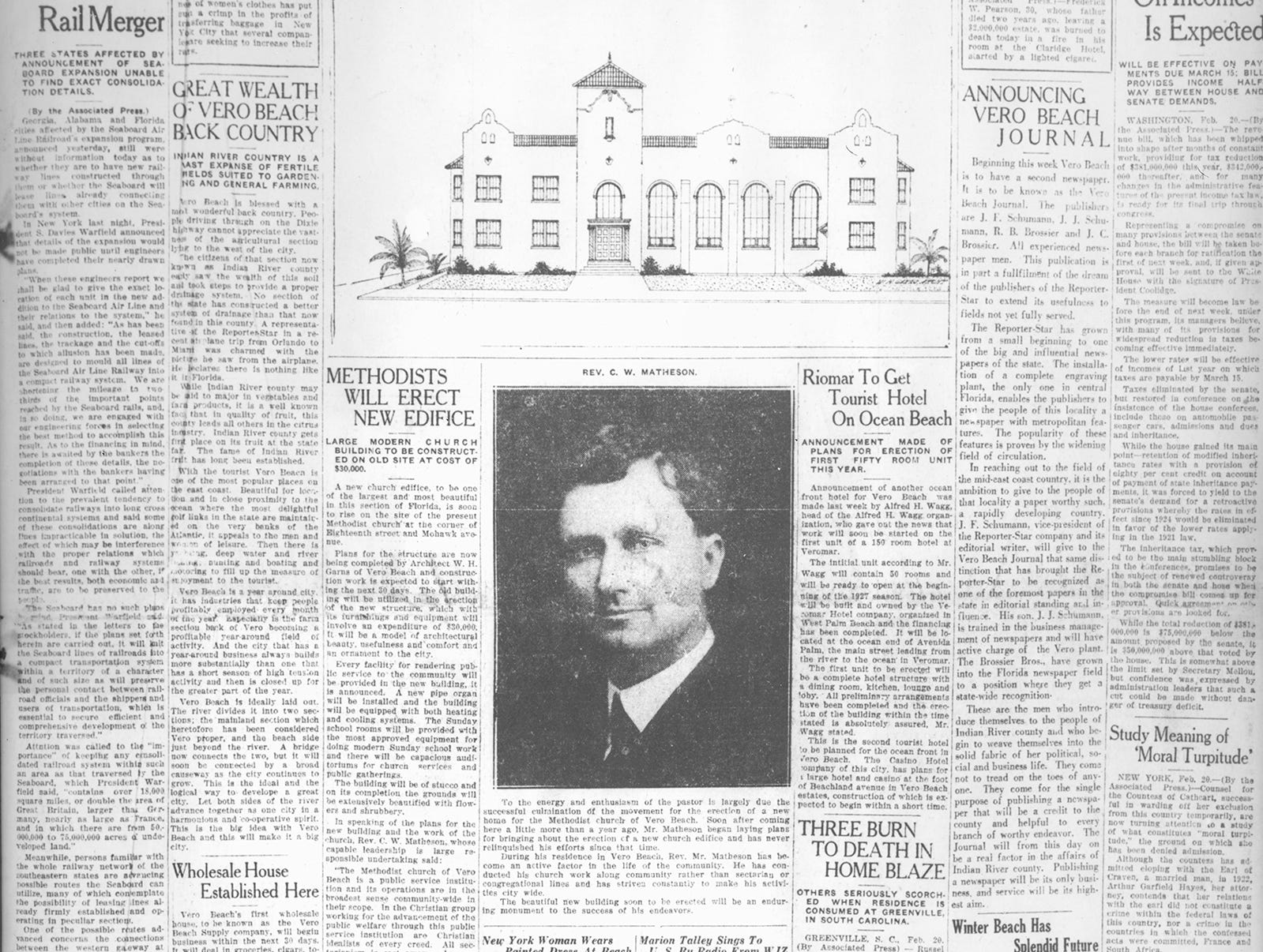 February 21, 1926 - Announcing Vero Beach Journal