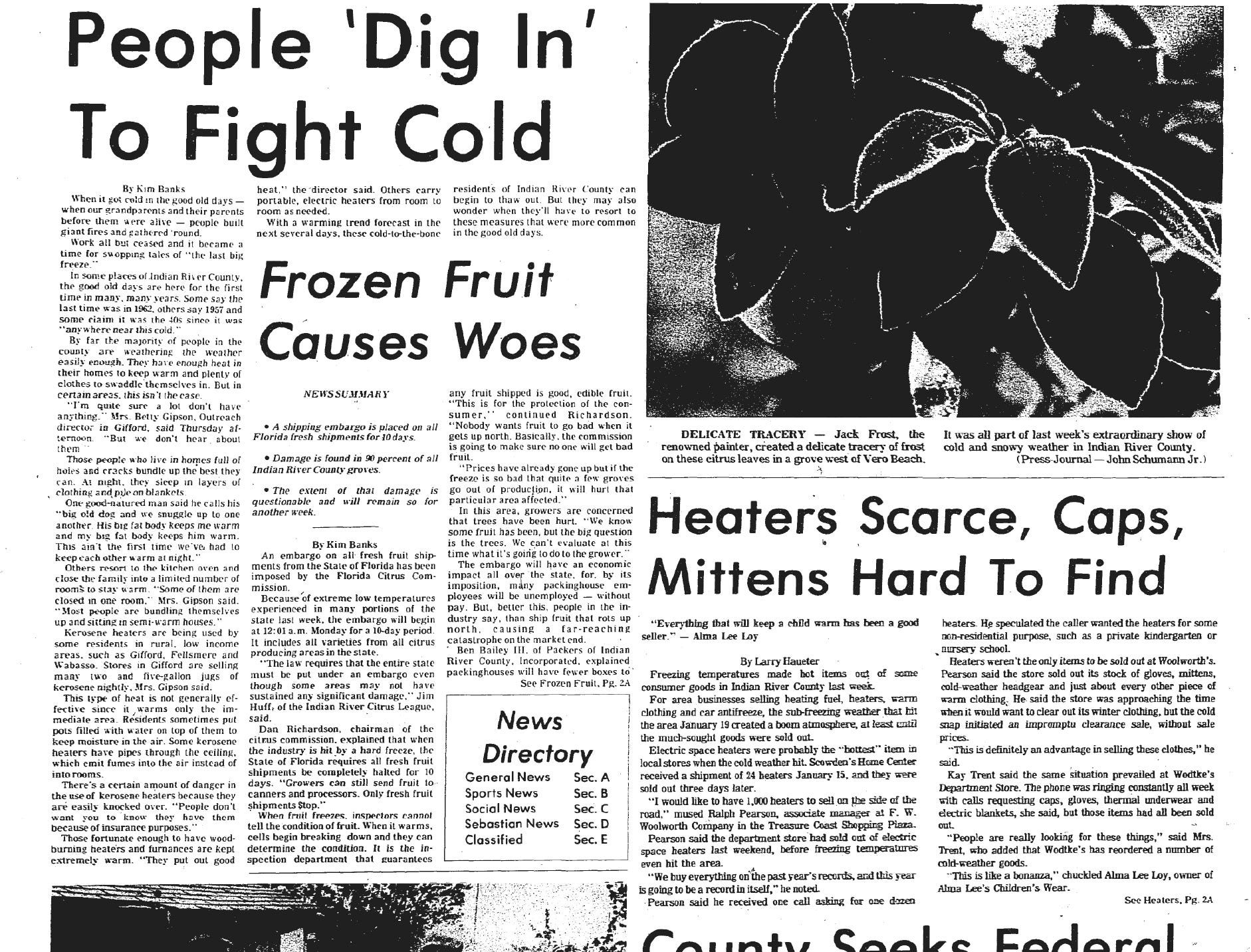 "January 22, 1977, People ""Dig In"" To Fight Cold"