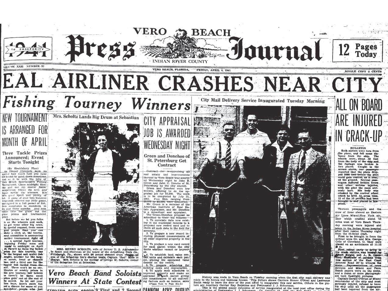 April 4, 1941, EAL Airliner Crashes Near City