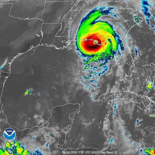 Hurricane Michael 1:15 p.m. Oct. 10, 2018