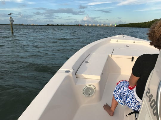 We took a boat ride at sunset on the Indian River Lagoon.  It was a relaxing experience watching the colors change in the sky.
