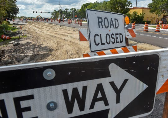 Construction on the final phase of the Crosstown Parkway Extension Project is seen Wednesday, Oct. 10, 2018, near the intersection of U.S.  1 and Southeast Village Green Drive in Port St. Lucie.