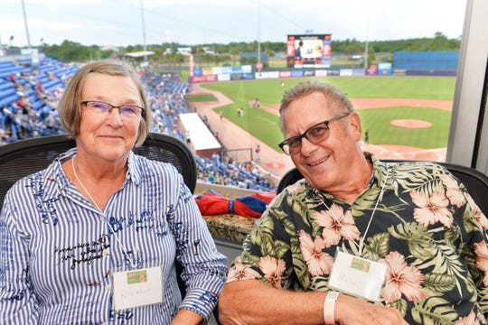 Rosalind and Michael Langan enjoy the  St. Lucie Mets game from their box seats at First Data Field in Port St. Lucie. They were there to support Strike Out Hunger Night, benefiting Treasure Coast Food Bank.