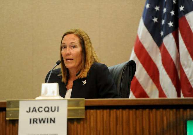 Assemblywoman Jacqui Irwin, D-Thousand Oaks, participates in a forum last year. Irwin was appointed chair of the veterans committee.