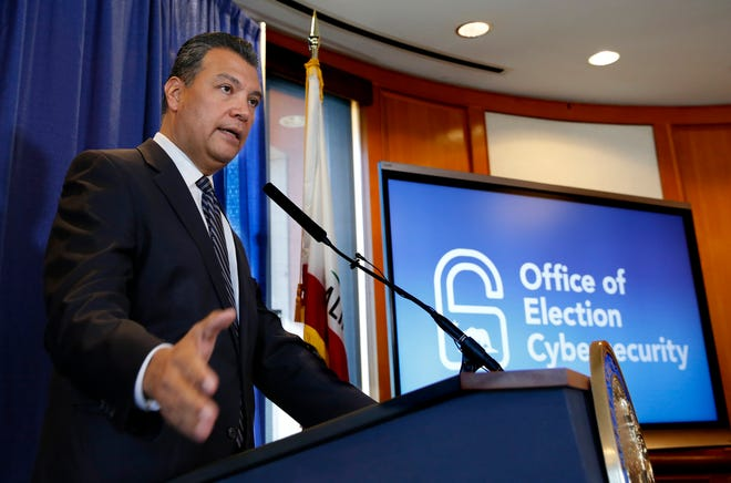 California Secretary of State Alex Padilla responds to a question concerning the voter registration of ineligible people by the California Department of Motor Vehicles on Tuesday in Sacramento. Padilla says he doesn't yet know whether any of the roughly 1,500 people mistakenly registered to vote by the DMV voted in the June primary election.