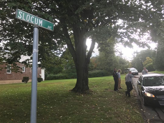 Law enforcement converged on Slocum Avenue in Tappan on Wednesday afternoon, Oct. 10, 2018